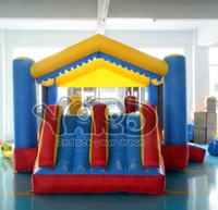 3 & 4 Years inflatable bouncer - Dual slide bounce house inflatable bouncer combo jumper moonwalk bouncy castle for residential use