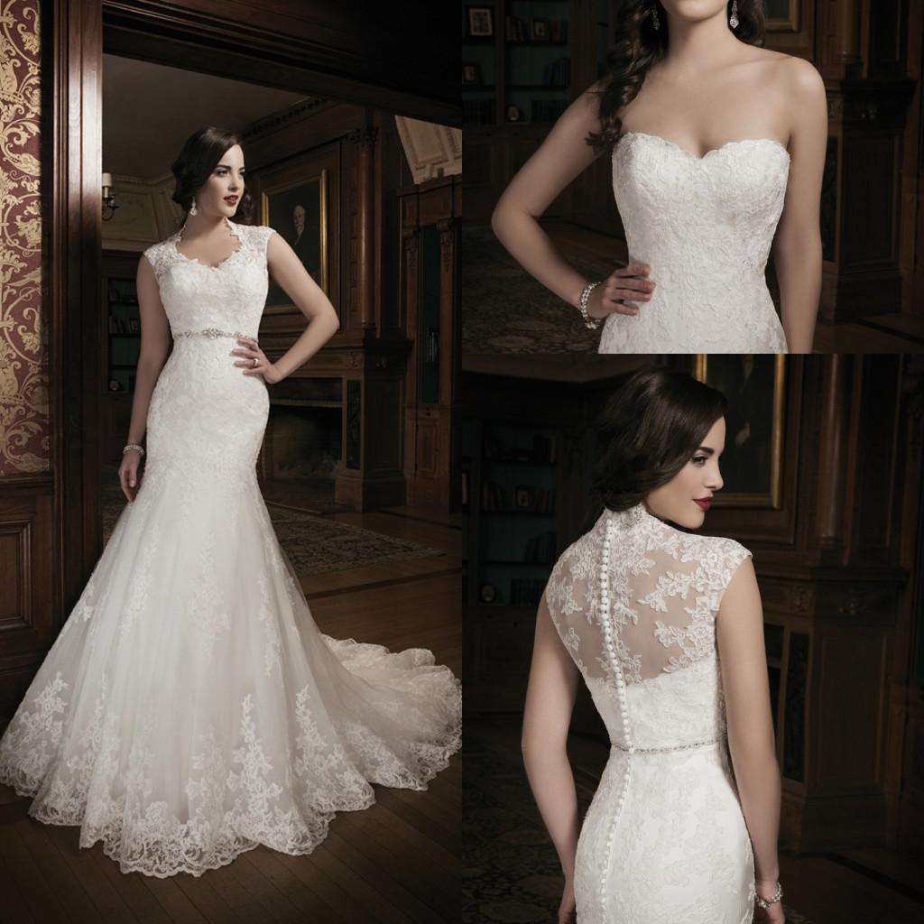 Mermaid Lace Ivory Wedding Dress