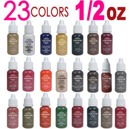 Wholesale EMS bottles ml bottle Tattoo ink for eyebrow makeup pigment colors WM I017