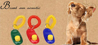 Wholesale Popular hot Dog Pet Click Clicker Pet Training Trainer Aid I Click Wrist Strap Obedience Agility