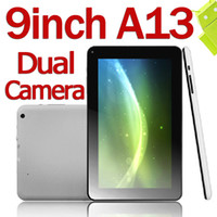 Wholesale 9 Inch Dual Camera Google Android ICS Box Chip A13 Tablet Pc MB DDR3 GB Capacitive Multi Screen GHz Wireless
