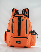 Wholesale Best Cheap Orange Travel Backpacks Durable Articulated PP Straps Vertical Fastener for Stability Ergonomic Waist Chest Belt Padded Hot EP021