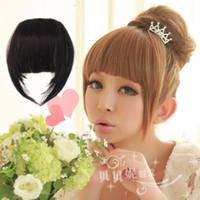 Wholesale Wig lengthen thickening bring false fringe bangs reflective