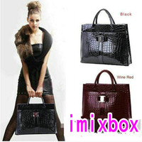 Wholesale Luxury OL Lady Women Crocodile Pattern Hobo Handbag Tote Bag Color Horizontal Version W1247