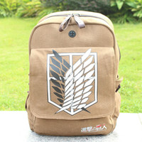 Wholesale Attack on Titan Shingeki No Kyojin Anime Cosplay Backpack Schoolbag Shoulder Bag