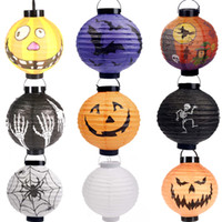 halloween decorations - Halloween decorations LED Pumpkins lantern jack skeletons spiders bats haunted house bar party props supplies gift for Kids free