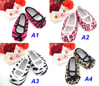 Wholesale Infant Baby Toddler Leopard Print fristwalker children footwear newborn learning shoes KZD X0002
