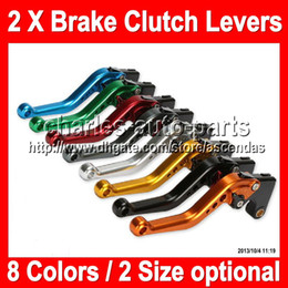 Wholesale 8 colors X Brake Clutch Levers For SUZUKI GSX R750 GSX R750 GSXR750 GSXR GSX R750 K4 NEW CNC Brake Lever