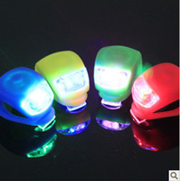 Warning Light bicycle choices - OY LED Silicone Mountain Bike Bicycle Front amp Rear Lights Kit Set colors for you choice