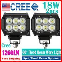 Wholesale 2pcs quot W LED W CREE LED Work Light Bar SUV ATV WD x4 JEEP Spot Flood Beam V V lm IP67 OffRoad Driving Motorcycle Fog Lamp