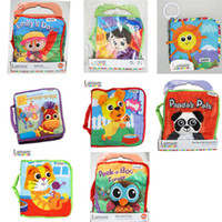Wholesale 8 styles Choose Lamaze Book Cloth Books Baby Early Development Toys Educational Fairy tale story baby Toy