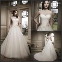 Jewel gold pan - Latest Design White Sleeveless Peter Pan collar Beaded Sexy gauze Long Wedding Dresses