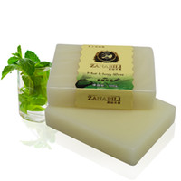 Wholesale Mint Honey Natural Handmade Beauty Soap Acne Soap and Good for Oily Skin