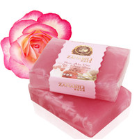 Wholesale Rose Aloe Olive Oil Honey Handmade Soap Whiten and Moisture Skin Remove Spot