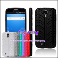 Wholesale TPU D vroom tyre soft silicone gel case for Samsung I9500 Galaxy S4 SIV rubber new arrival cell phone luxury cases China Post