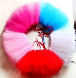 Wholesale pieces pink rose blue white red colors girls ballet dance tutu skirt