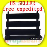 watch display stand - NEW Tier T Black Velvet Jewelry Bracelet Necklace Watch Display Rack Holder shipping from USA