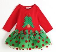 Children Holiday Garment Kid Clothing Xmas Tree Polka Dot Bo...