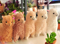 Wholesale Japanese Arpakasso amuse Genuine Sheep plush alpaca colors Soft Toy cm high