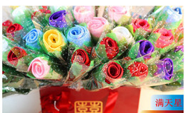 Wholesale CUTE Cartoon ROSE style wedding gift Christmas gift Christmas gift towels Wedding Birthday gift cake towel