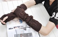 Wholesale Knitted Gloves For Women Long Sleeve Style color Mix prs New Arrvial C11