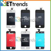 Wholesale LCD Display amp Touch Screen Digitizer Full Assembly for iPhone CDMA S with Earpiece Anti dust Mesh Installed AA0005