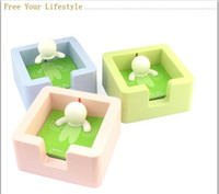 Wholesale Novelty Cute Memo Spa Memo Note Paper Pad Holder Case Box for School Student Gift and Office Supplies Cheap