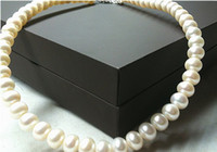 Pearl pearl - Christmas Sale mm Round Shape Natural Freshwater Pearl Necklace Pearl light to send his girlfriend genuine small XTP002