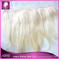10 Natural Color Peruvian Hair Straight ,color 613, Brazilian Virgin hair lace frontal13*4