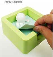 Wholesale Cute Memo Spa Memo Note paper Pad Holder Case Box for school student gift and office supplies