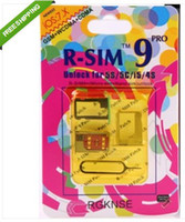 Wholesale dhl Good quality RSIM PRO Unlock sim card for Iphone S C S IOS withoud activated code
