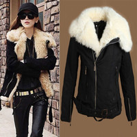 Women Middle_Length Wool Blend Hot Sell Women's New Warm Lush Fur Winter Coat Black Outerwear Jacket Parka