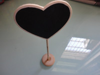 Wedding Event & Party Supplies Party Decorations 50pcs lot Heart-shaped Mini chalkboards Blackboard on stick Place holder Table Number For Wedding favor Party Christmas Decorations