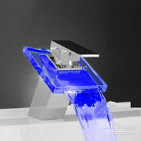 Wholesale Sensitive led faucet bathroom mixer waterfall basin tap hot sale sensor NB010