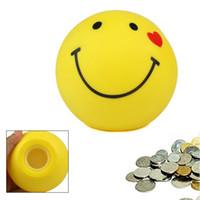- face bank money box - Lovely Smile Face Style Coin Loose Change Saving Piggy Bank Money Box