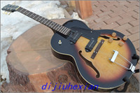 Wholesale 2013 new ES Archtop Guitar Sunburst ES125 Electric Guitar One neck No Scarf