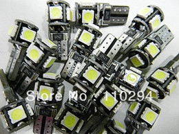 High quality !!! 100pcs T10 Canbus W5W 194 5050 SMD 5 LED Error Free Light Bulbs Clearance Lights 12v   24v