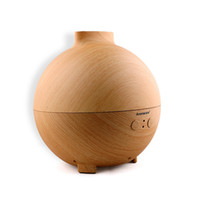 Wholesale 600 ml Aroma Globe Oil Diffuser and Humidifier Ultra Quiet Cool Mist Ultrasonic Nebulizer Large Aromatherapy Diffuser Dark Wood Grain