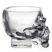 Wholesale Home Bar Drinking Ware Crystal Skull Head Vodka Whiskey Shot Glass Cup SKull Mugs
