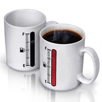 ECO Friendly amazing milk - Thermometer color changing mug Amazing Ceramic Cup coffee milk cup temperature sensing cup
