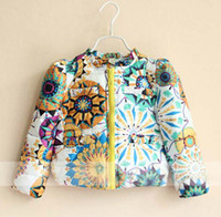 Wholesale Winter Jackets Child Clothing Wear Baby Cute Flower Coat Kids Cotton Jackets Children Outwear Fashion Casual Coat Kids Clothes Girls Jacket