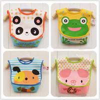 Wholesale Baby Bibs Layers Waterproof Bib Feeding Cartoon Infant Bibs amp Burp Cloths colors can choose T9881