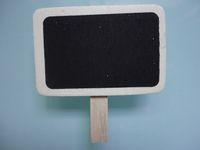Wholesale 100pcs Designs Mixed MINI CLIP PEG WOODEN SMALL BLACKBOARD CHALKBOARD CHALK WEDDING OFFICE SCHOOL