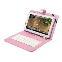 Wholesale Promotion Colorful USB quot Leather Keyboard Cover Leather Case Bag For quot quot quot Tablet PC