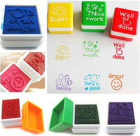 Wholesale 6X Teachers Self Inking Stampers Praise Reward Student Stamps Motivation Sticker CWYE0166