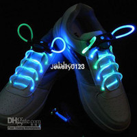 Halloween   50pcs colorful led flashing shoelace light up shoe laces Laser