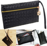 Wholesale 1PC New Faux Leather Womens Embossing Clutch Party Black Bag Purse fit Cellphone CWYE0313