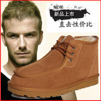 Wholesale 2014 New Winter Hot Men Leisure Snow Boots Beckham Same Star Low Height Fashion Shoes Flat Heel Pure Color Colors