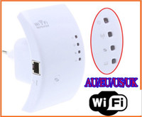 Wholesale Wireless N Wifi Repeater N B G Network Router Range Expander M dBi Antennas Signal Boosters Free Drop Shipping