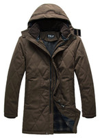 Wholesale 2013 men s autumn and winter thick warm cotton coat to increase in the long section XL padded military jacket